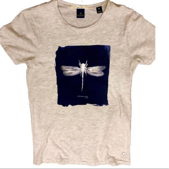 80822175 Scotch & Soda Shirts | Scotch Soda Dragonfly Artwork Tshirt Small ...